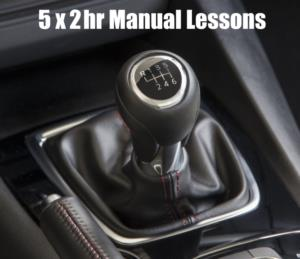 5 x 2 hour Manual Car Lessons