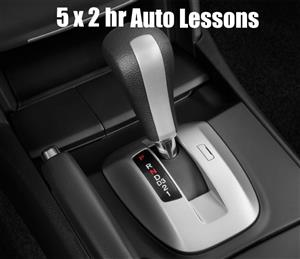 5 x 2 hour Automatic Car Lessons
